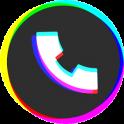 Цветной мигающий телефон - темы экрана вызова