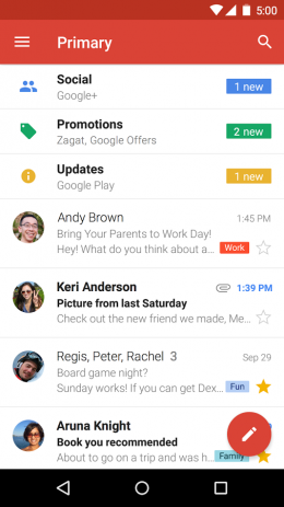 Скриншот Gmail – почтовый клиент