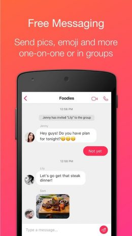 Скриншот JusTalk – бесплатные видеозвонки и видеочат