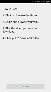 Скриншот Video Downloader для Facebook
