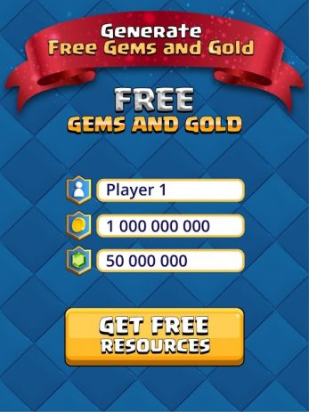 Скриншот Gems and gold for Clash Royale 0