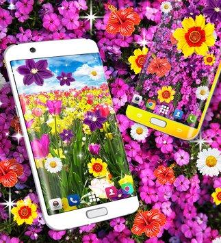 Скриншот Цветы живые обои