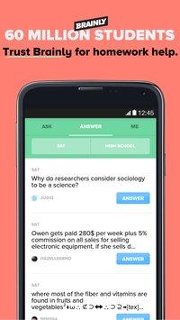 Скриншот Brainly Homework Help & Solver