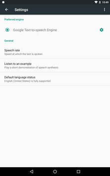 Скриншот Google Text-to-speech