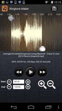 Скриншот Ringtone Maker – MP3 Cutter
