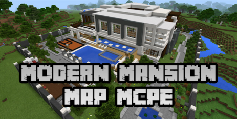 Скриншот New Modern Mansion Map for Minecraft PE