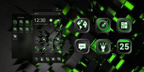 Скриншот черный Технологии тема