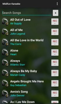 Скриншот Midifun Karaoke