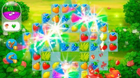 Скриншот Garden Pets - бесплатная игра 3 в ряд