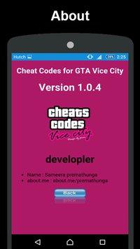 gta vice city cheat codes free download apk