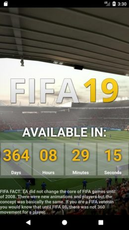 Скриншот Countdown to FIFA 19