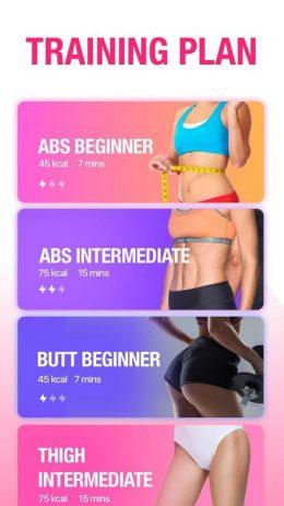 Скриншот Фитнес для женщин: женская тренировка 1
