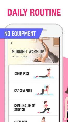 Скриншот Фитнес для женщин: женская тренировка 3