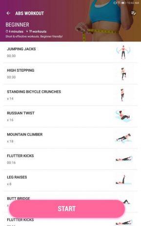 Скриншот Фитнес для женщин: женская тренировка 6