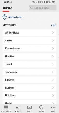 Скриншот AP News