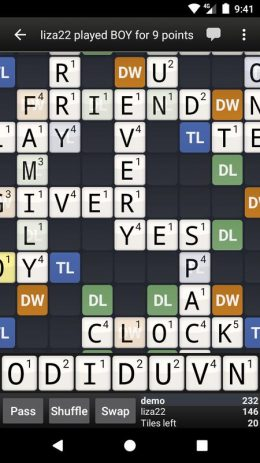 Скриншот Wordfeud Free
