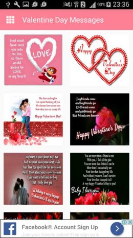 Скриншот Valentine day Messages,Images Greeting Card Quotes
