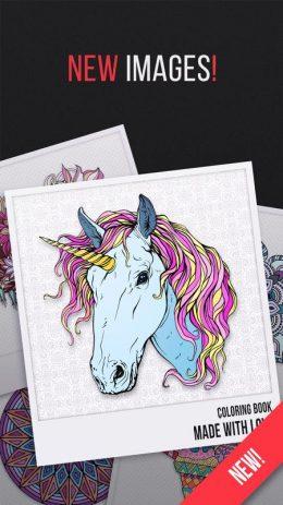 Скриншот Coloring book 2019 – Unicorns and Mandalas