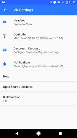 Скриншот Google VR Services 3