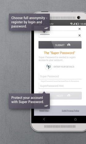 Скриншот Secure messenger SafeUM 2