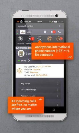 Скриншот Secure messenger SafeUM 3