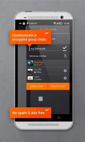 Скриншот Secure messenger SafeUM 5