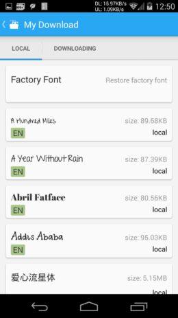 Скриншот iFont 3