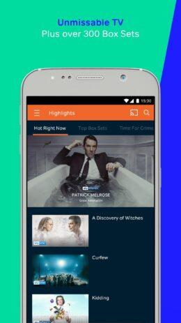Скриншот NOW TV