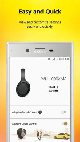 Скриншот Sony   Headphones Connect 0