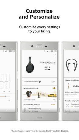 Скриншот Sony   Headphones Connect 1