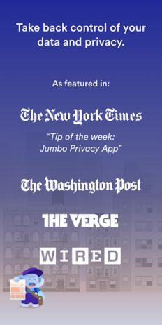 Скриншот Jumbo: Privacy + Security 0