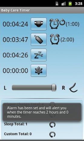 Скриншот Baby Care Timer