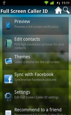 Скриншот Full Screen Caller ID