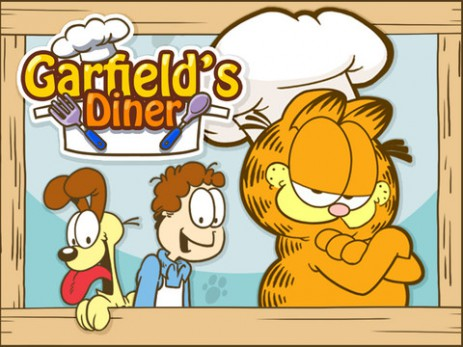 "Poster <span lang=""ru"">Garfield's Diner</span>"