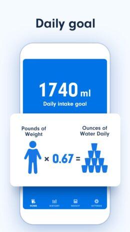Скриншот Напоминания о питье воды 0