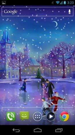 Скриншот Christmas Rink Live Wallpaper – Рождественский каток
