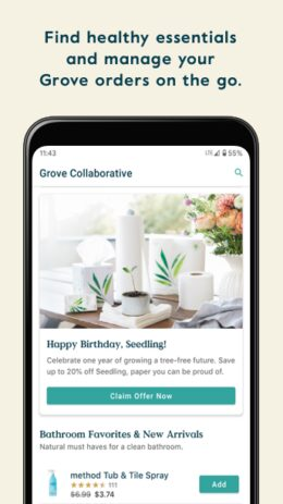 Скриншот Grove Collaborative 0