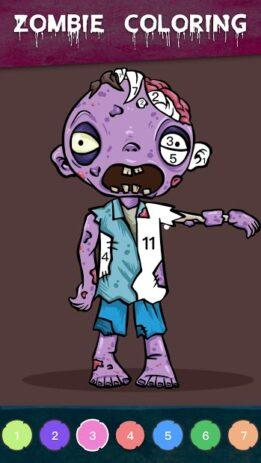 Скриншот Zombie Coloring 1
