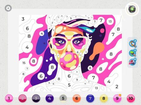 Скриншот Gallery: Раскраска по цифрам и декорирование дома 5