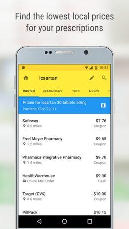 Скриншот GoodRx: Prescription Drugs Discounts & Coupons App 0