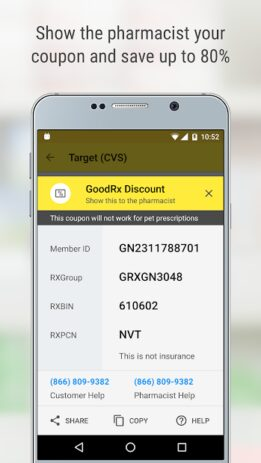 Скриншот GoodRx: Prescription Drugs Discounts & Coupons App 1