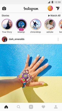 Скриншот Instagram