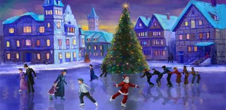 "Poster <span lang=""ru"">Christmas Rink Live Wallpaper – Рождественский каток</span>"