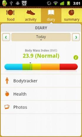 Скриншот Счетчик калорий