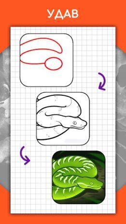 Скриншот Как рисовать животных шаг за шагом, уроки 4