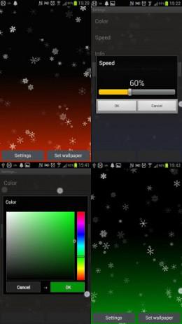 Скриншот Снежинка живые обои 0