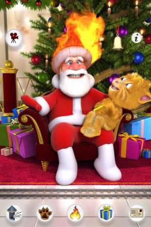 Скриншот Talking Santa meets Ginger — говорящий Санта
