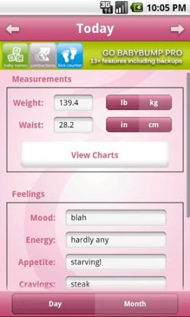 Скриншот BabyBump Pregnancy Pro