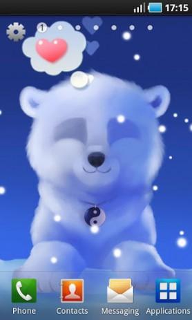 Скриншот Polar Chub – белый медвежонок в вашем телефоне