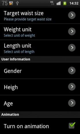 Скриншот Дневник веса